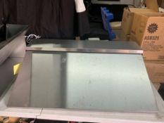 Dessus / enclos pour table preparation acier Inox 40 x 11 -NEUF pour TRUE