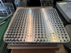 """(8) Dessus de tables SEULEMENT en acier inox 24 x 24"""" - NEUFS - QUANTITÉ x le prix misé"""
