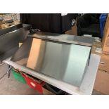 Dessus / enclos pour table preparation acier Inox 28 x 11 - NEUF pour TRUE