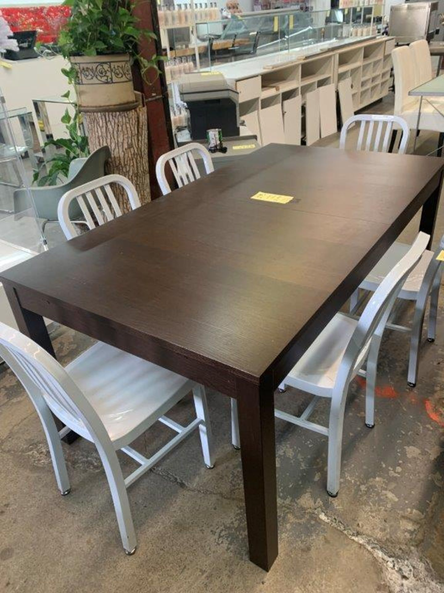 Table à diner en bois - 69 '' x 38'' a/ (1) extension