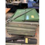 Lot de (6) racking metal - démentelés - 30 tablettes - pas de vis