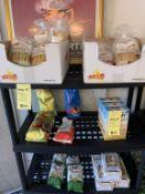 Lot de bouffe sur 2 racks 40 + items (F)