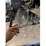Lot de 8 verres vin rim - diagonal (F)