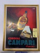 """Lot de 2 cadres Campari et café 26 X 30 """" (F)"""