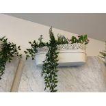 Lot de (4) bacs déco pour plantes' métal (F)