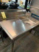 Table évier vaisselle # TLEC 48 x 30 L -ext GAUCHE - NEUVE