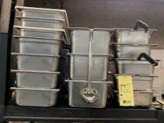 Lot de 15 bins acier Inox avec couverts