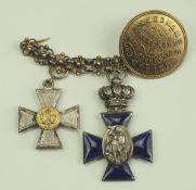 Bayern: Miniaturenkette eines Michaels-Ritters.1.) Verdienstorden vom hl. Michael, Ritterkreuz 2.