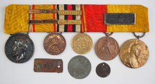 Baden: Nachlass eines Veteranen der Kriege 1866 und 1870/71.1.) Verdienstmedaille, Friedrich, in