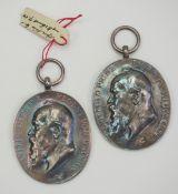 Bayern: Prinzregent Luitpold-Medaille, in Silber - 2 Exemplare.Je Silber.Zustand: I-II