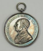 Bayern: Militärverdienstmedaille, Max Joseph I., in Silber.Silber, geprägt, ohne