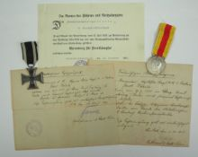 Baden: Nachlass eines Kanoniers der 3. Batt. Res.-Fuss-Artl.-Regt. 14.1.) Preussen: Eisernes