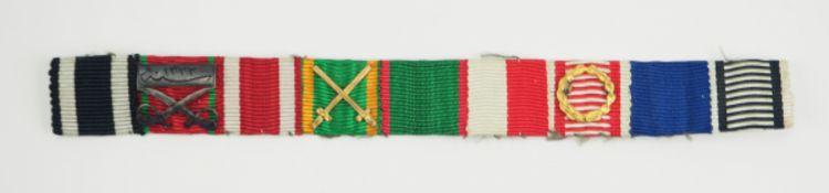 Baden: 9-teilige Feldschnalle eines Offiziers der Palästina-Front.1.) Preussen: Eisernes Kreuz,
