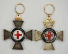 Bayern: Verdienstkreuz für die Jahre 1870/71 - 2 Exemplare.Je Silber, Gold, teilweise emailliert,