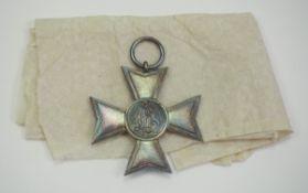 Bayern: Landwehr-Dienstauszeichnung, 1. Klasse für 20-jährige Dienstpflicht.Silber, mit originalem