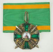 Baden: Großherzoglicher Orden vom Zähringer Löwen, Komturkreuz mit Schwertern.Silber vergoldet,