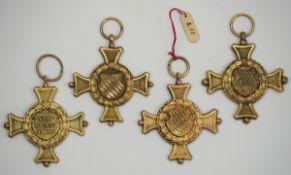 Bayern: Dienstauszeichnung, 2. Klasse für 24 Dienstjahre (1906-1921) - 4 Exemplare.Je Messing.