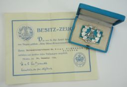Bayern: Prinz Alfons-Erinnerungszeichen, in Silber, im Etui mit Urkunde für den
