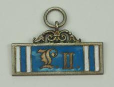 Bayern: Landwehr-Dienstauszeichnung, 2. Klasse (1876-1913).Silbern, teilweise emailliert.Zustand: