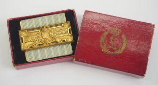Bayern: Feuerwehr-Ehrenzeichen, nach 25-jährige Dienstleistung (1884-1918), im Etui.Vergoldete