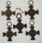 Bayern: Armeedenkzeichen 1866.Je dunkle Bronze.Zustand: I-