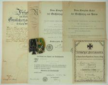 Baden: Nachlass eines Hauptmann und Oberforstrat im Landsturm-Infanterie-Regiment Nr. 33.