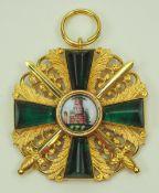 Baden: Großherzoglicher Orden vom Zähringer Löwen, Ritterkreuz 1. Klasse mit Schwertern.Vergoldet,