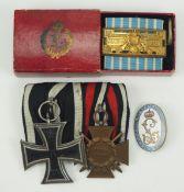 """Bayern: Nachlass eines Veteranen des Infanterie-Regiment """"König Ludwig III. v. Bayern"""".Ordenschnalle"""