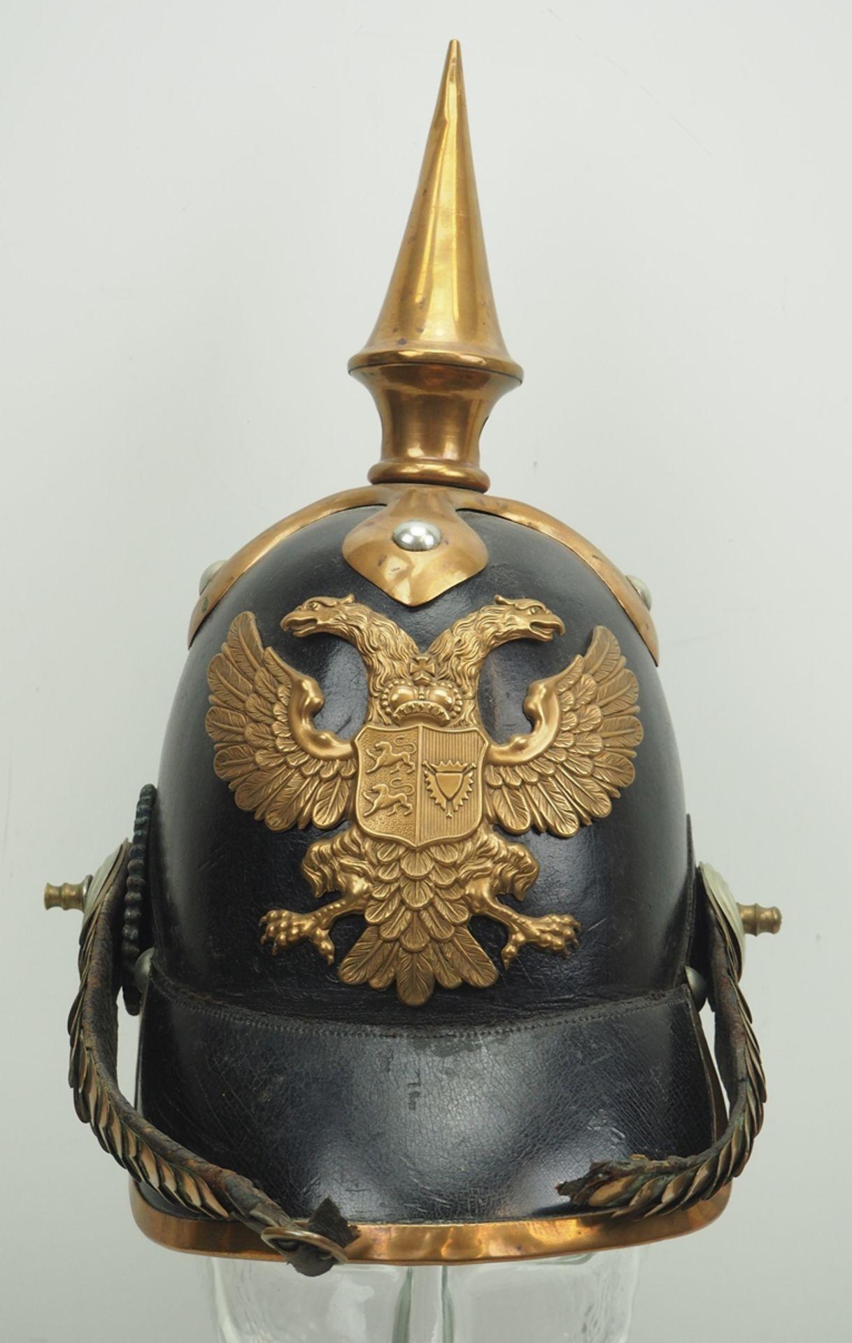 Schleswig-Holstein: Helm für Offizeire des Infanterie Regiment Nr. 10, Modell u - Bild 2 aus 6