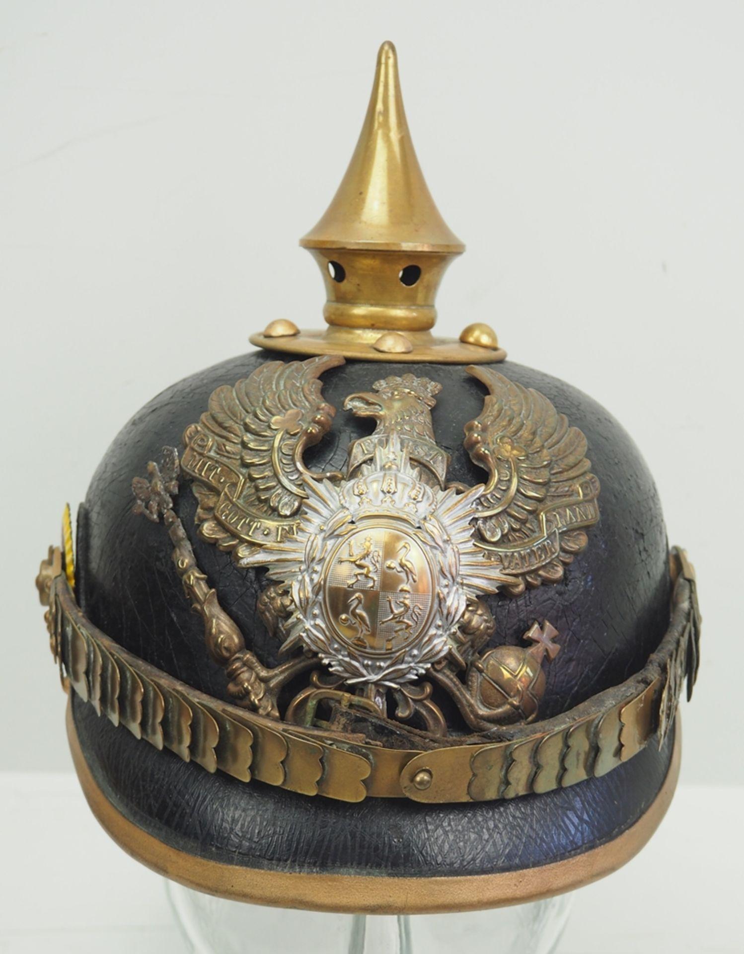Reuss: 7. Thüringisches Infanterie-Regiment Nr. 96, II. Bataillon, Helm für Man - Bild 2 aus 5