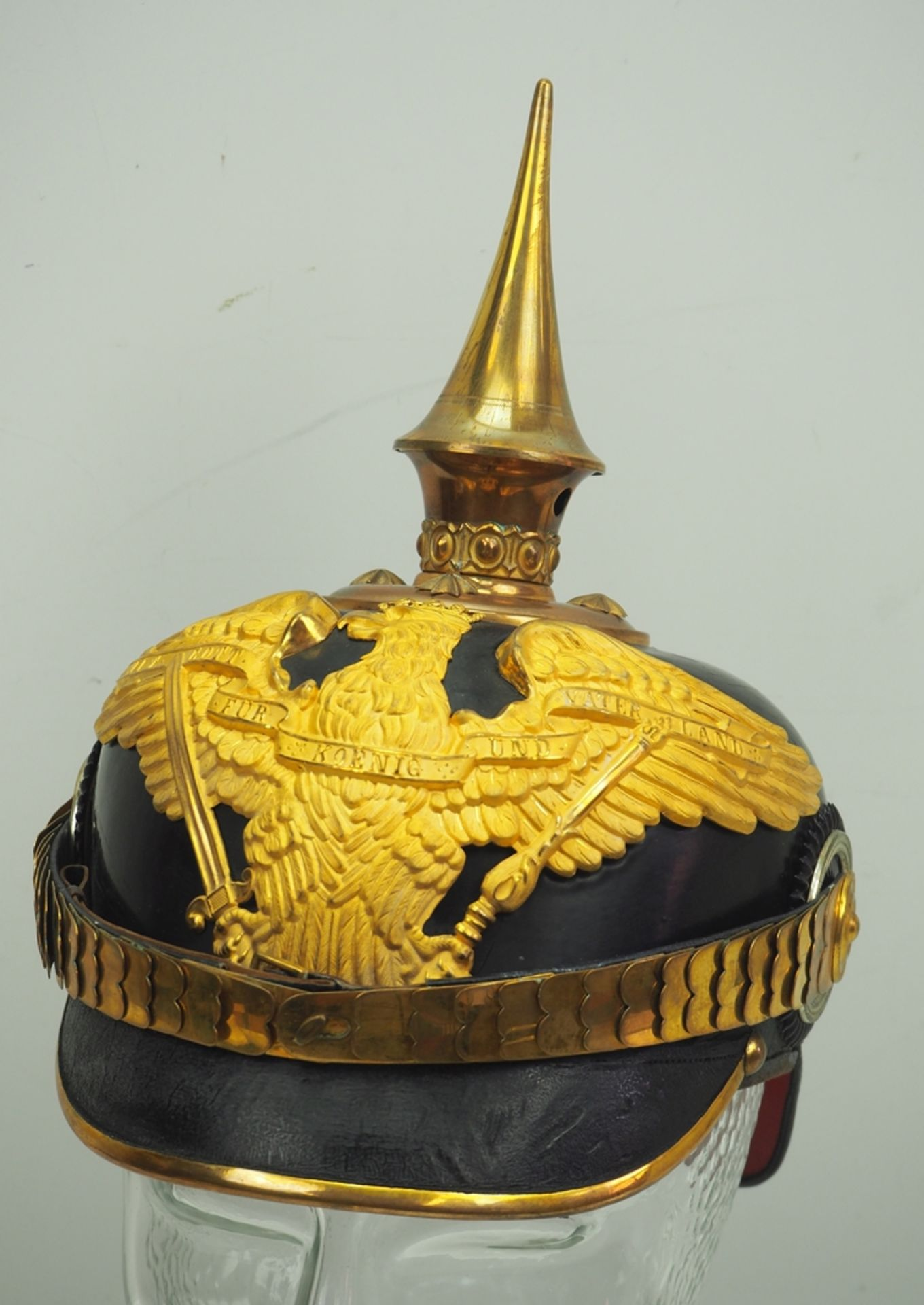 Preussen: Helm für Offiziere der Grenadiere-Regimenter Nr. 2, 3, 8-12, in Diens