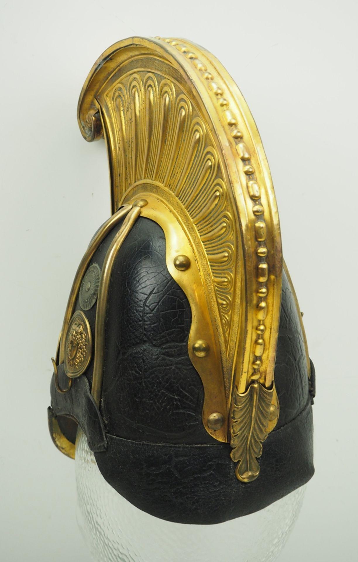 Sachsen: Gardereiter, Helm für Offiziere Modell 1860. - Bild 4 aus 5