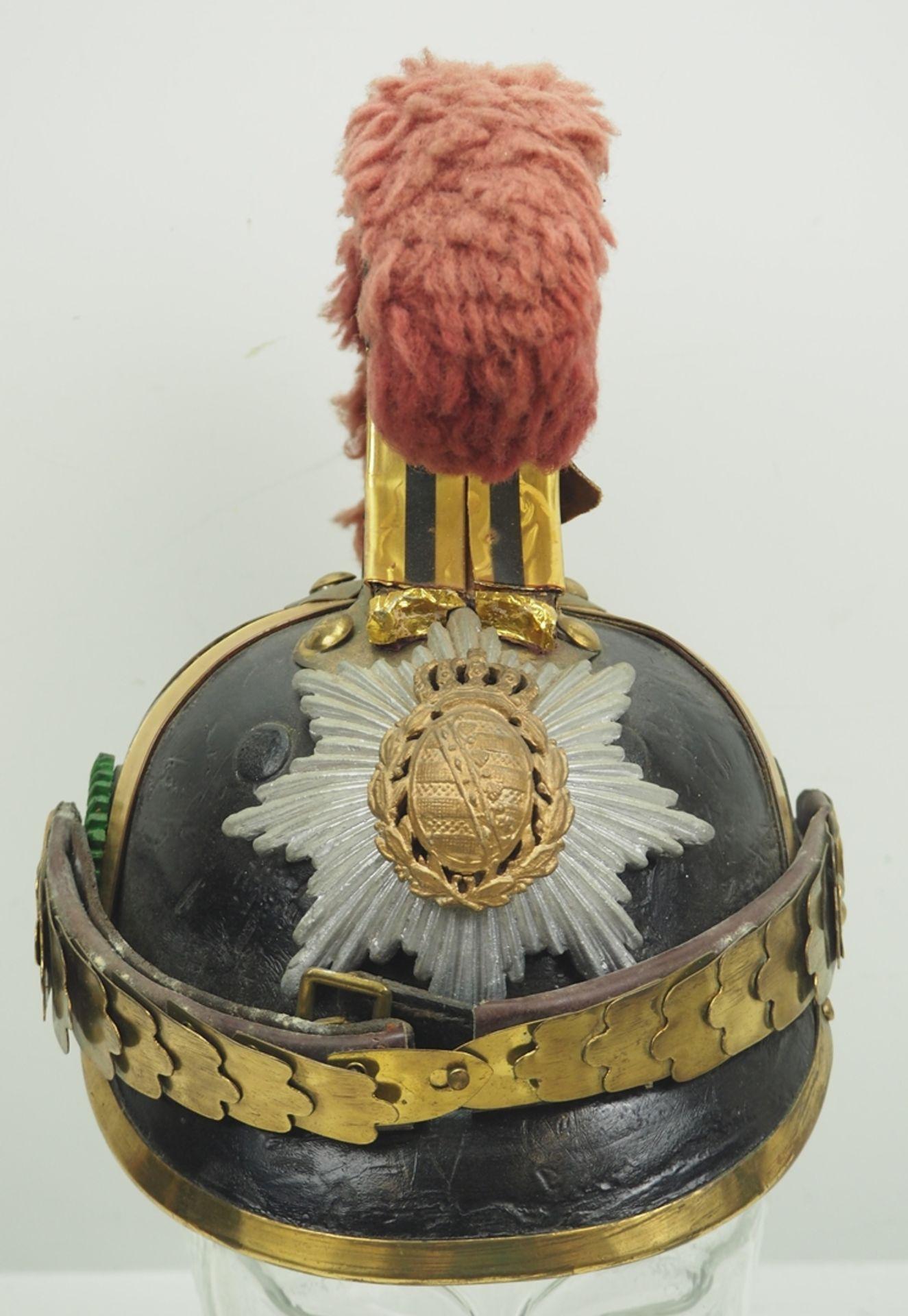 Sachsen: Gardereiter, Helm für Mannschaften Modell 1876. - Bild 2 aus 5