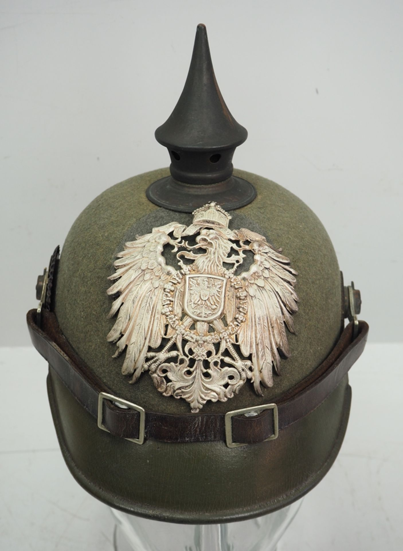 Preussen: Ostasiatisches Expeditionskorps, Helm für Mannschaften der Pioniere u - Bild 2 aus 5