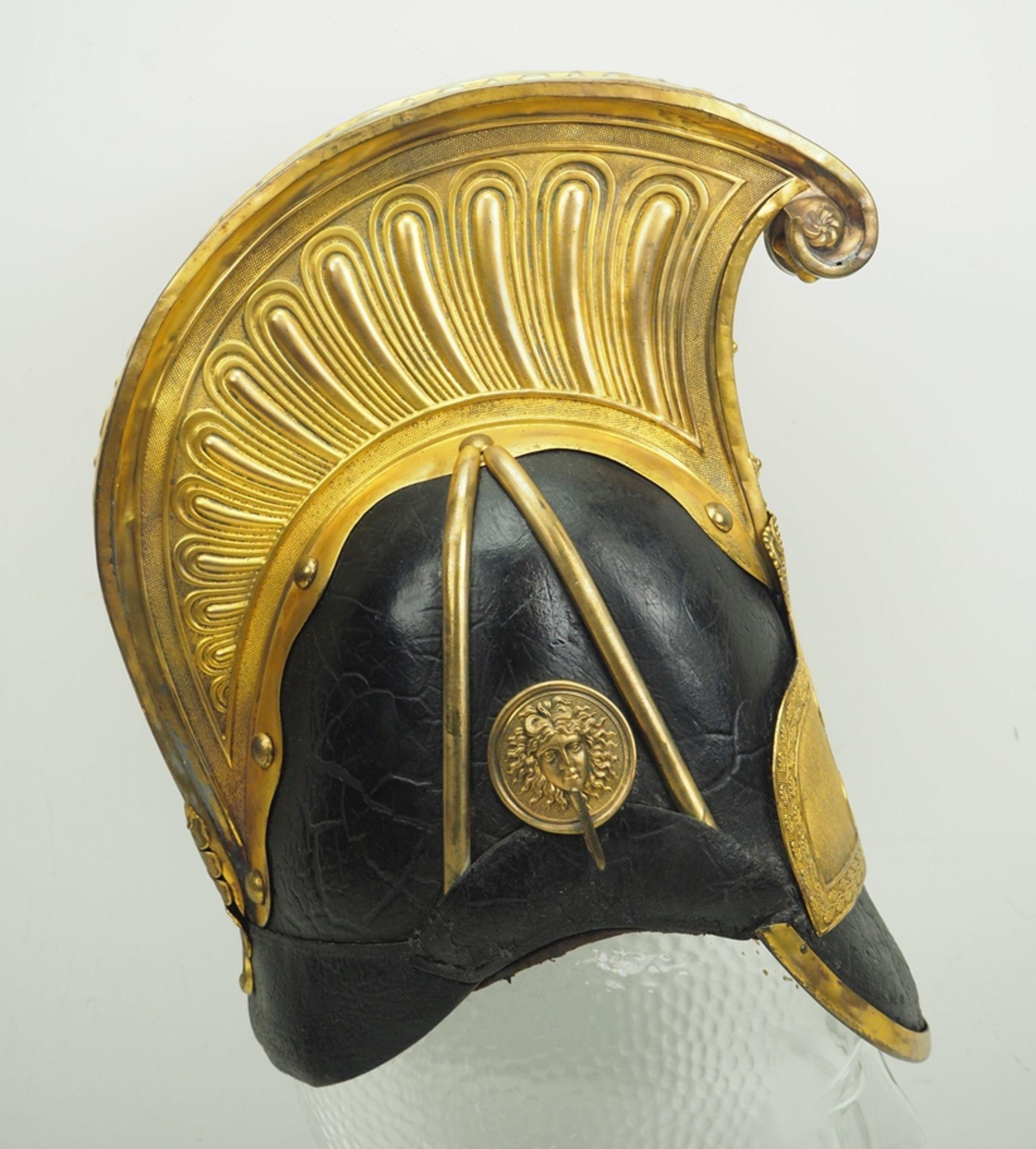 Sachsen: Gardereiter, Helm für Offiziere Modell 1860. - Bild 3 aus 5