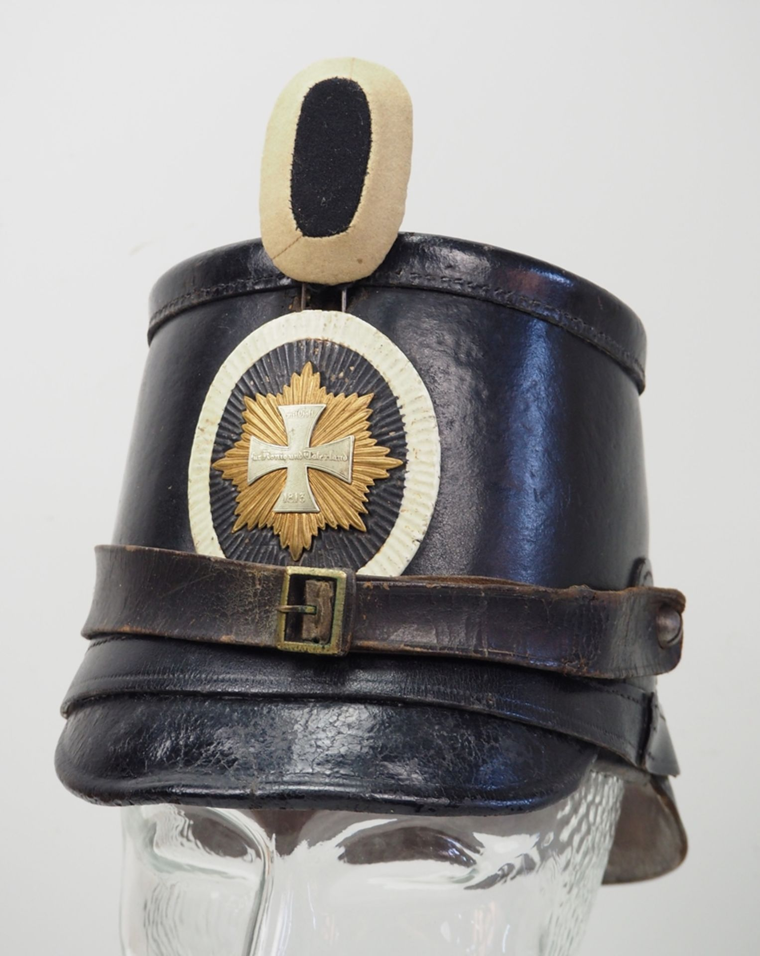 Preussen: Tschako für Mannschaften der Garde-Landwehr-Infanterie.