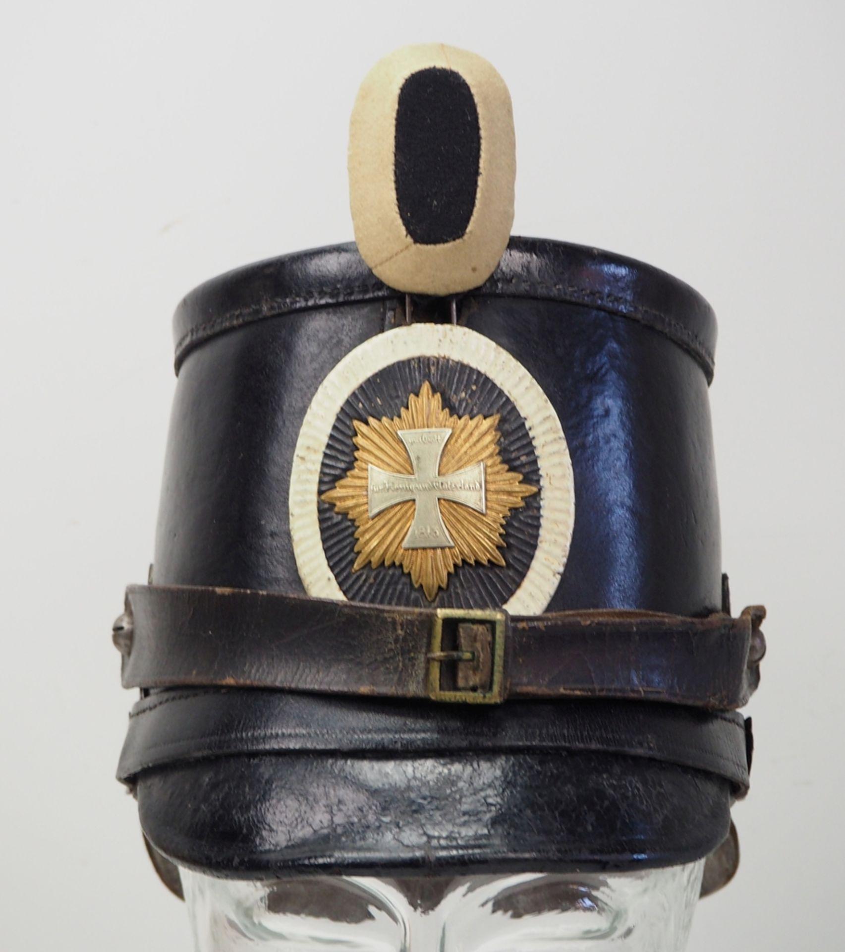 Preussen: Tschako für Mannschaften der Garde-Landwehr-Infanterie. - Bild 2 aus 5