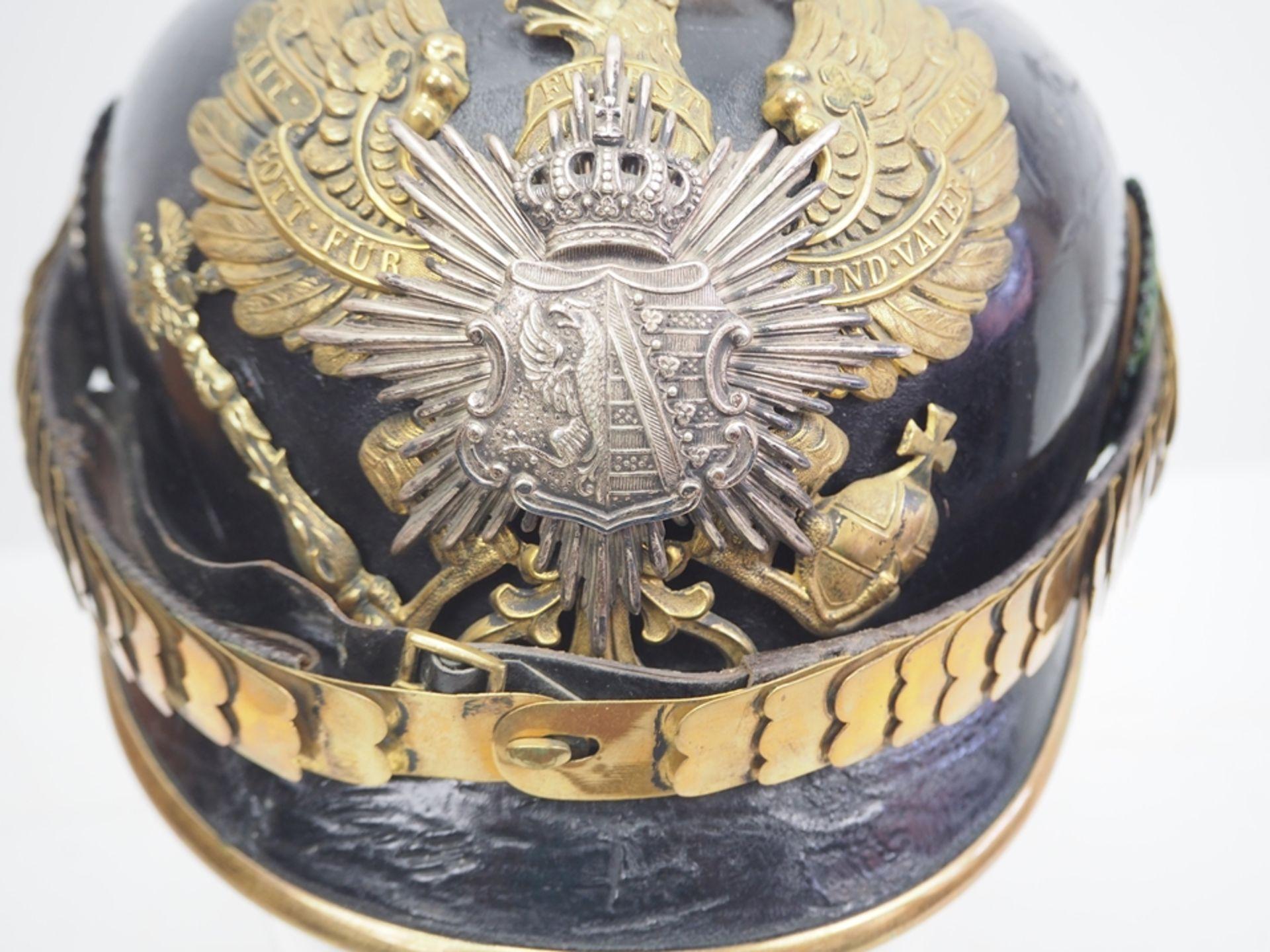 Anhalt: Anhaltisches Infanterie-Regiment Nr. 93, Helm für Offiziere. - Bild 2 aus 5
