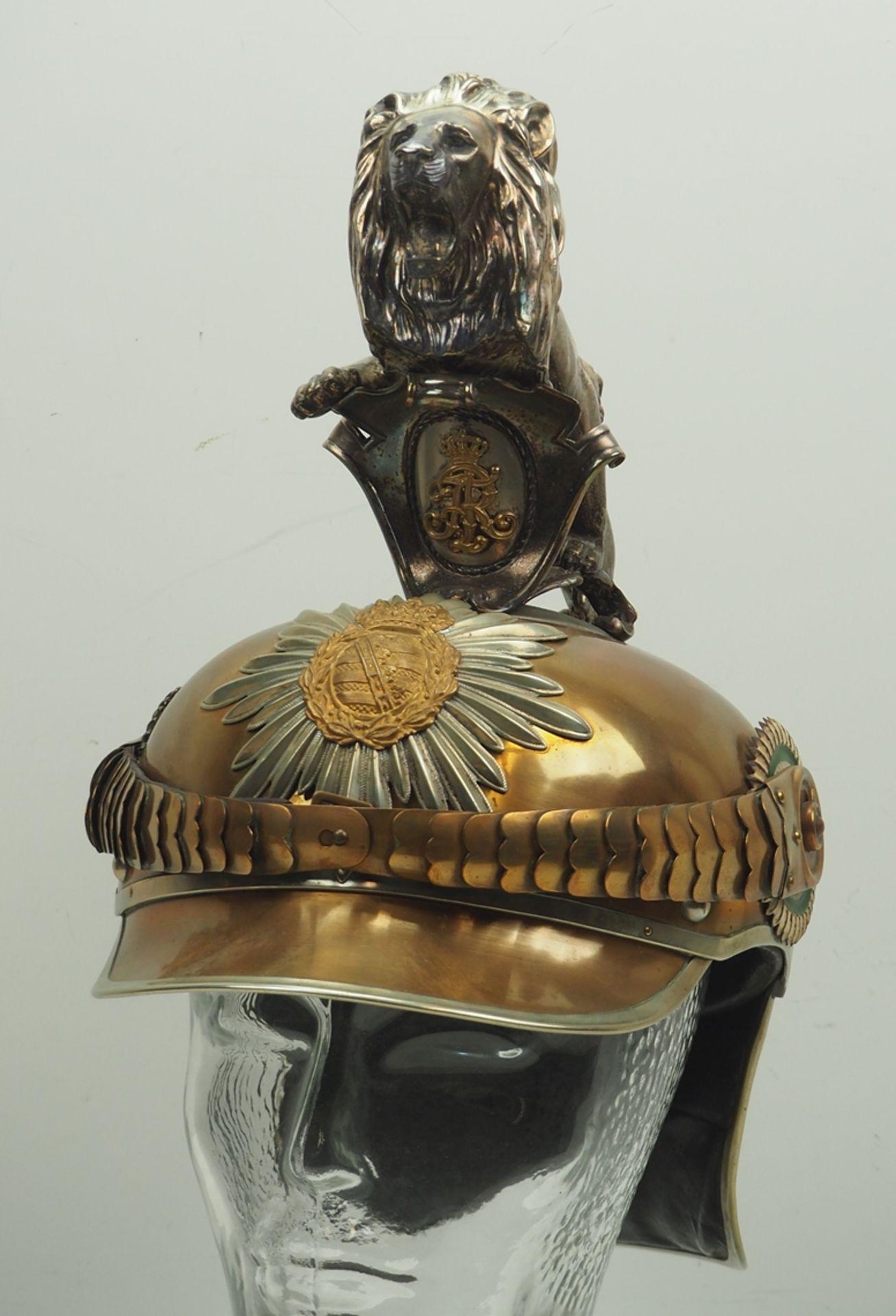 Sachsen: Königlich Sächsisches Garde-Reiter-Regiment, Helm für Mannschaften mit
