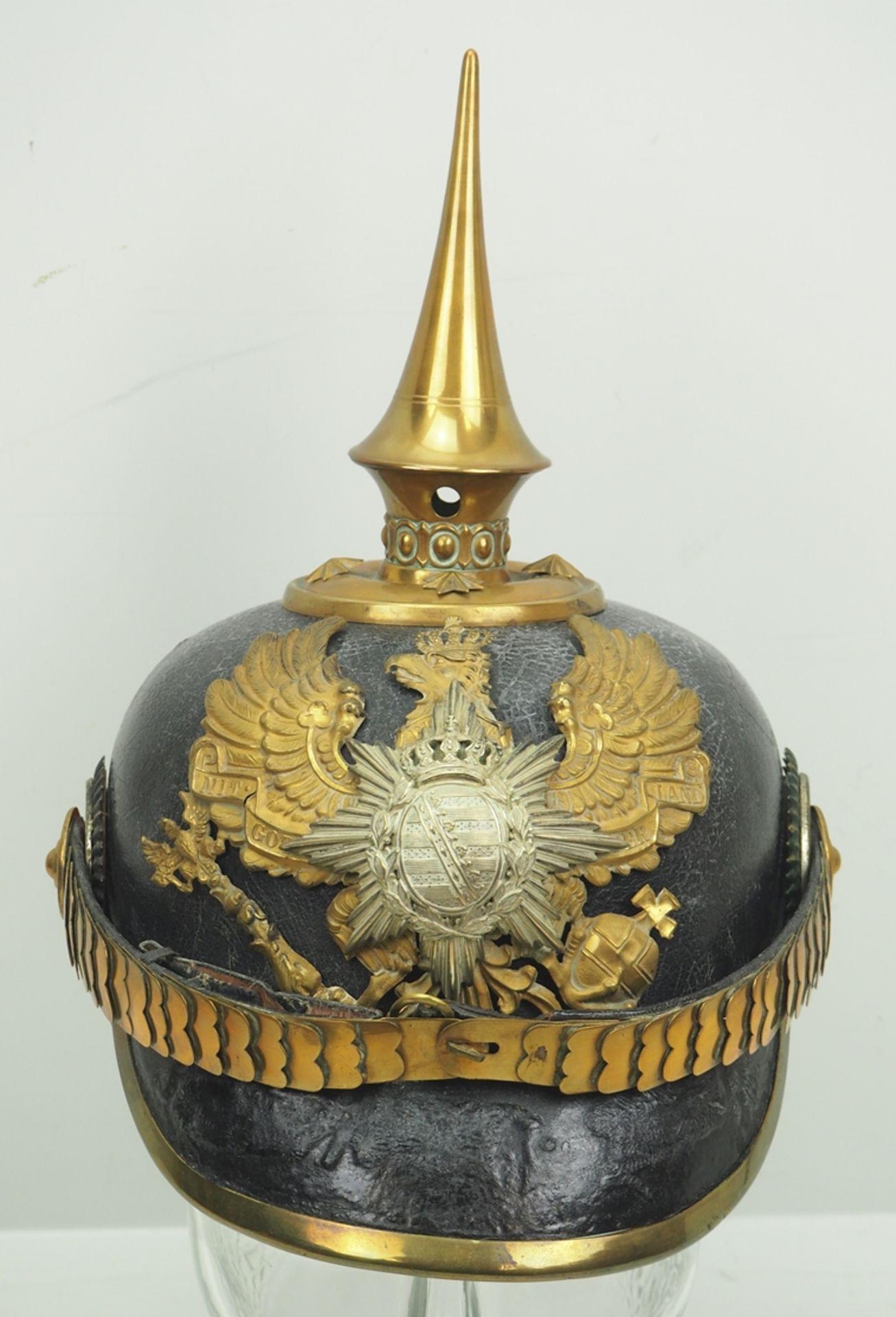 Sachsen-Coburg-Gotha: 6. Thüring. Infanterie-Regiment Nr. 95, Gotha, Helm für O - Bild 2 aus 5
