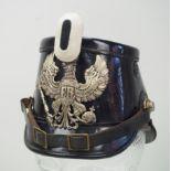 Preussen: Tschako für Mannschaften der Telegraphen-/Luftschiffer-Bataillone.