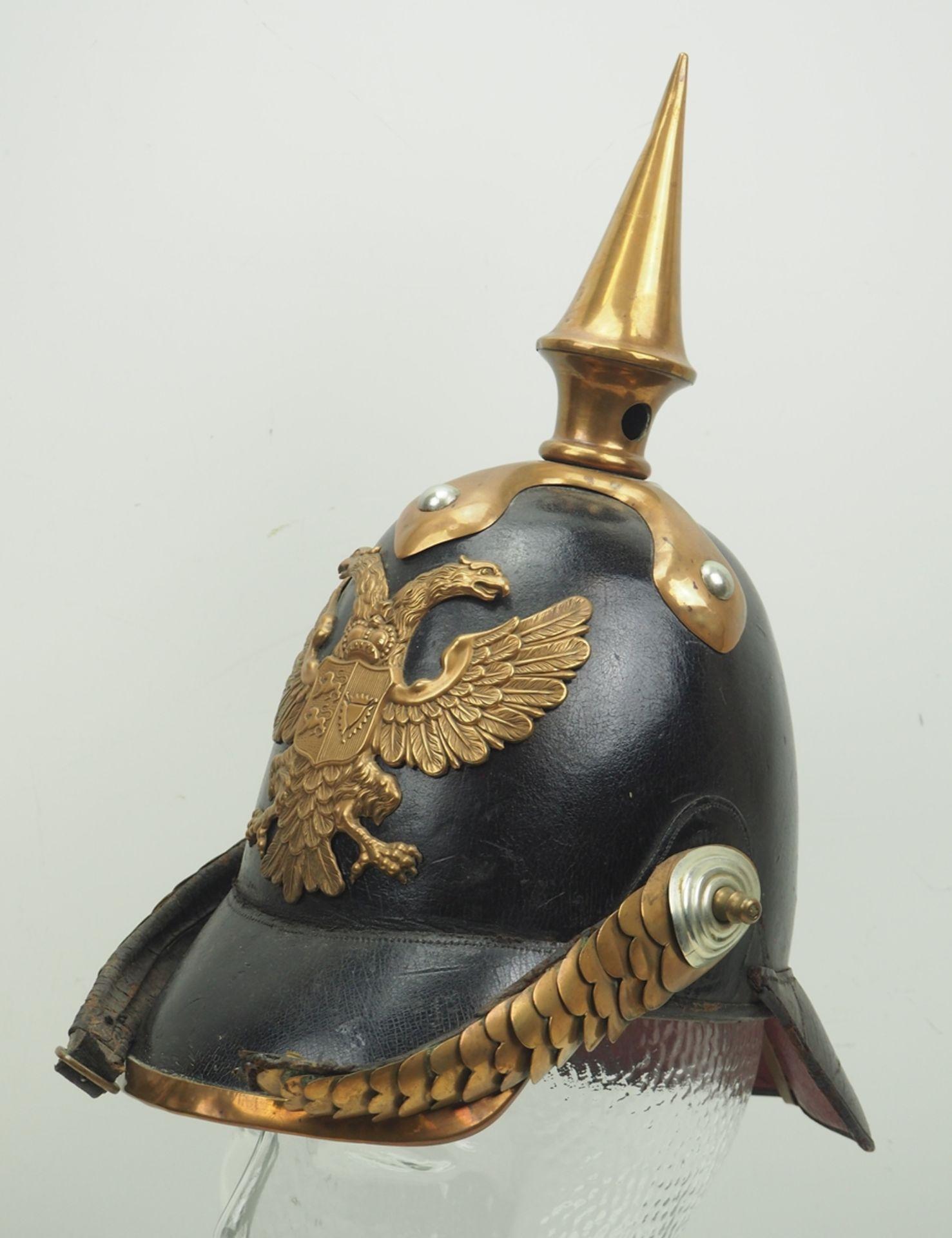 Schleswig-Holstein: Helm für Offizeire des Infanterie Regiment Nr. 10, Modell u