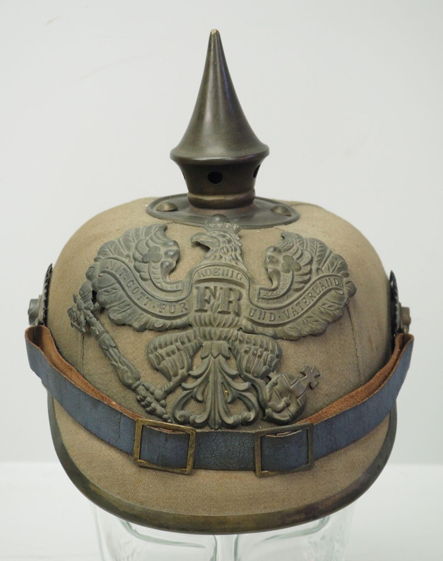 Preussen: Helm für Mannschaften der Infanterie-Regimenter - Ersatzmaterial. - Bild 2 aus 6