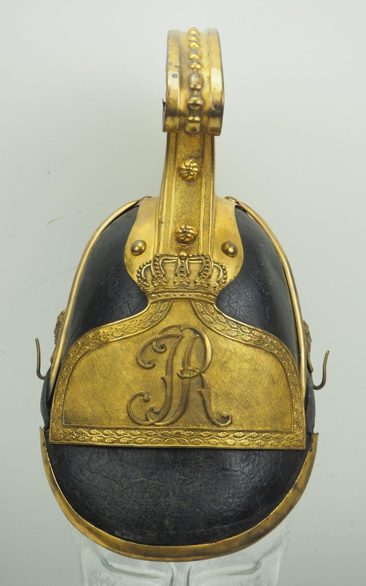 Sachsen: Gardereiter, Helm für Offiziere Modell 1860. - Bild 2 aus 5