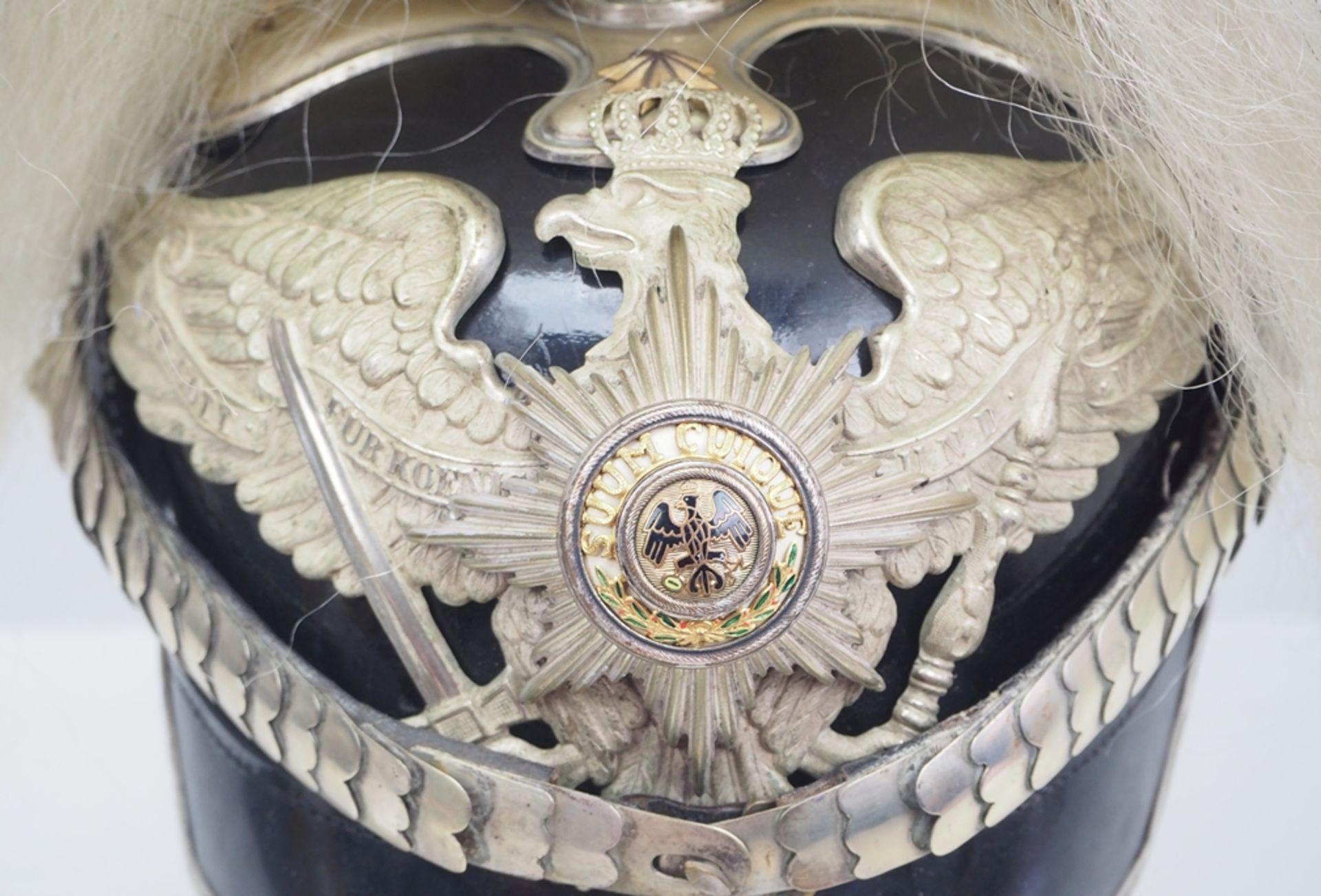 Preussen: Helm für Offiziere im Generalstab mit Paradebusch. - Bild 2 aus 6