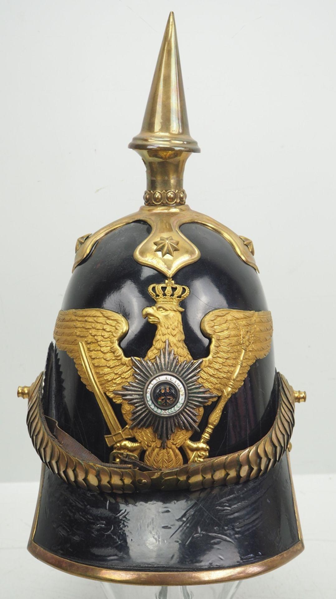 Preussen: Helm für Dragoner-Offiziere Modell 1842.