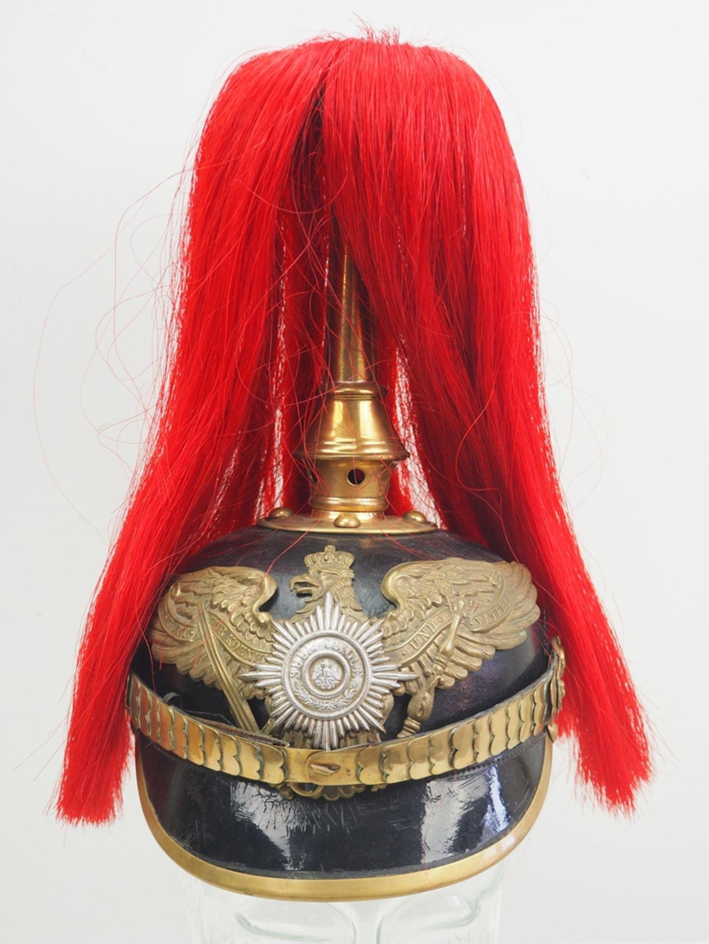 Preussen: Helm für Musiker der Garde-Grenadier-Regimenter mit Paradebusch - Kam