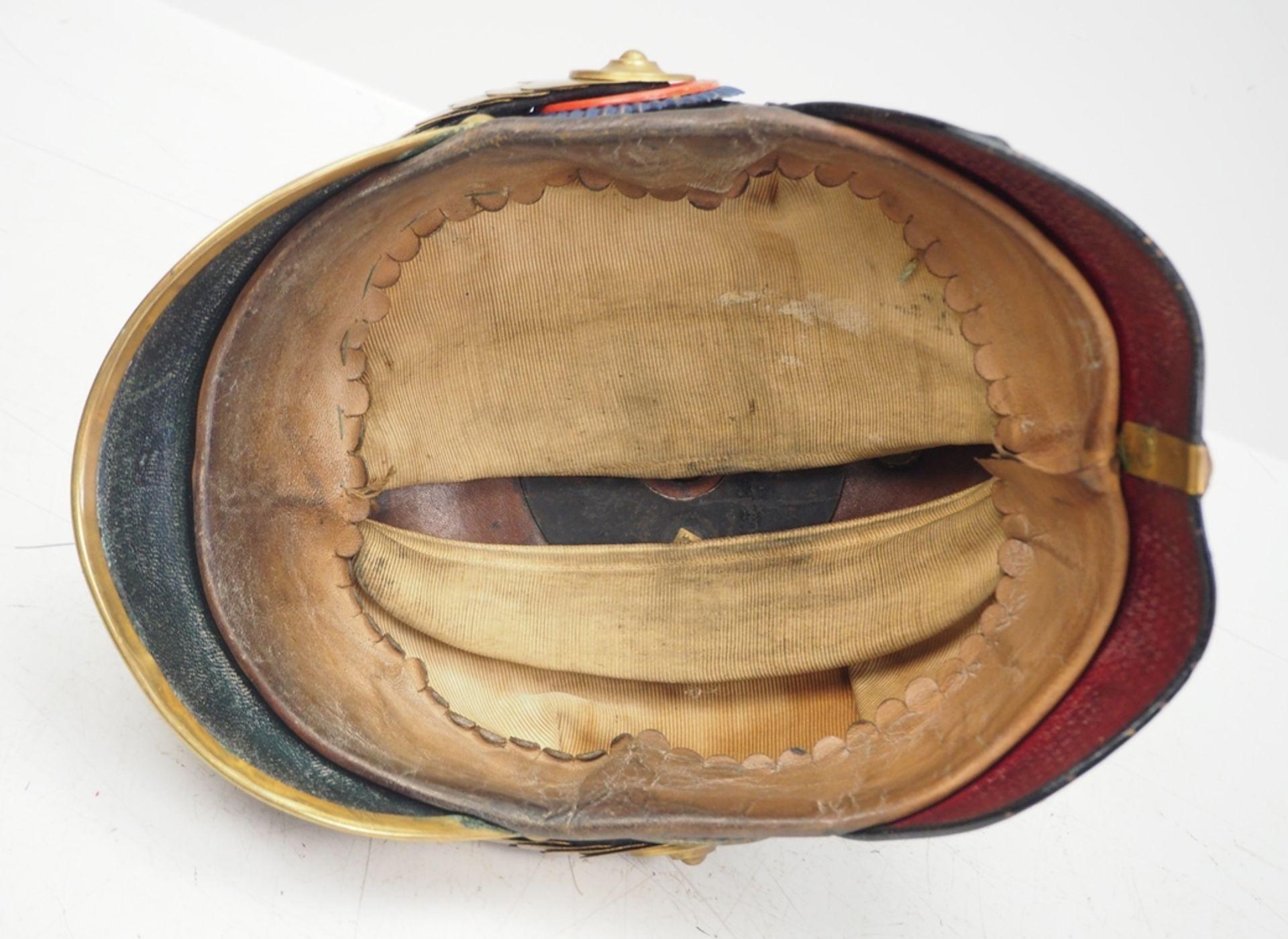 Oldenburg: Infanterie-Regiment Nr. 91, Helm für Offiziere der Reserve. - Bild 5 aus 5