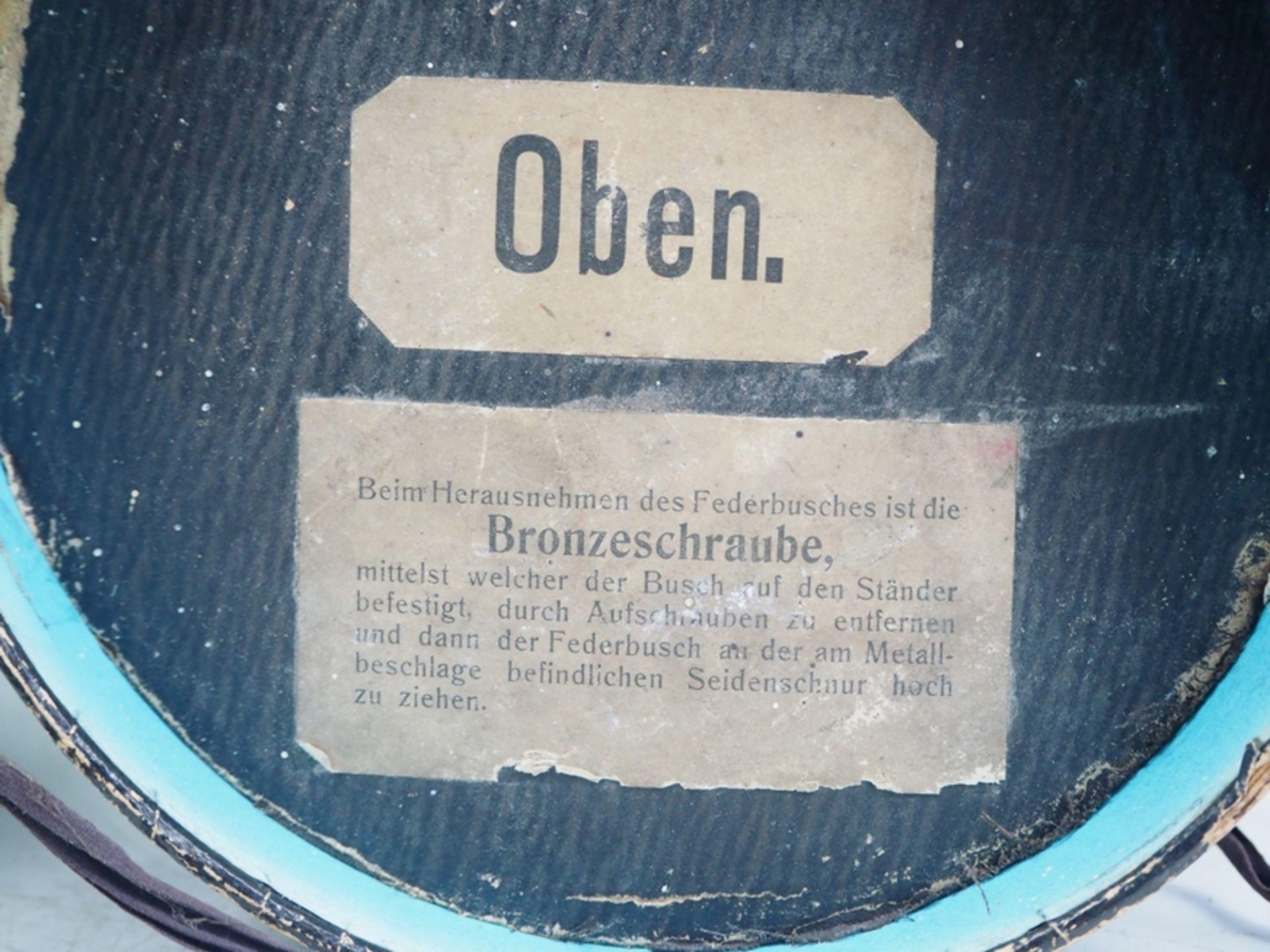 Preussen: Paradebusch für Generale, in Tube. - Bild 2 aus 4