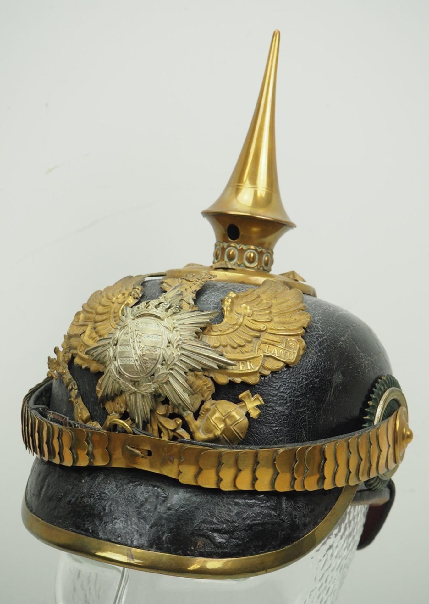 Sachsen-Coburg-Gotha: 6. Thüring. Infanterie-Regiment Nr. 95, Gotha, Helm für O